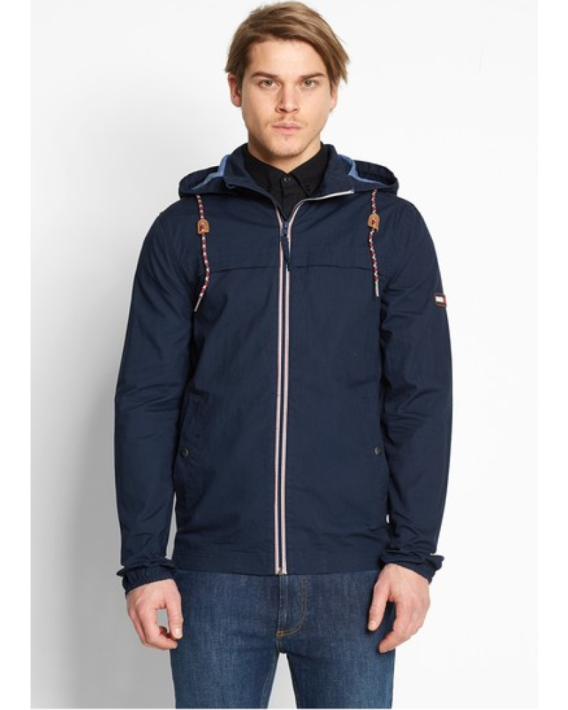 tommy hilfiger herren hilfiger denim canvas hooded jacket 44 blouson blau reduziert. Black Bedroom Furniture Sets. Home Design Ideas