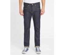 Ausgewaschene Jeans Tapered Rainbow Selvage ED-55