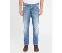 Hellblaue Slim Jeans Tapered Larston Selvedge