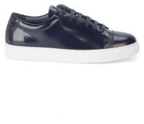 Sneaker Edition 3 aus marineblauem Glattleder