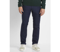 Chino-Hose Stretch Sid Lamar in Washed-Marineblau