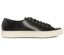 Schwarze Leder-Sneaker Tanino