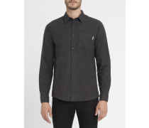 Flanellhemd Griffith in gemischtem Schwarz