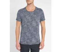 Blaues T-Shirt Graphic