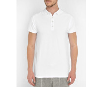 Weißes langes Poloshirt Home