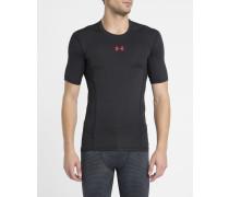 Schwarz-rotes T-Shirt Heatgear SuperVent