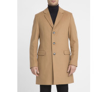 Kamelbrauner Mantel aus Kaschmirwolle