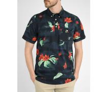 Hemd mit Knopfleiste und Tropical-Muster, Roy