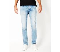 Washed Slim Jeans Blue