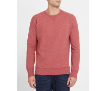Rot meliertes Sweatshirt