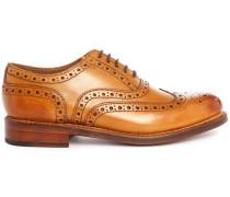 Cognacfarbene Richelieu-Schuhe Stanley mit Rosette auf der Schuhspitze