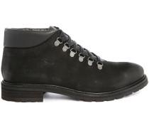 Schwarze Leder-Boots Mountain