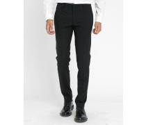 Slimfit-Anzughose aus schwarzer Wolle Sisley
