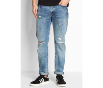 501 Dirty Dawn Customized and Tapered Jeans Blue