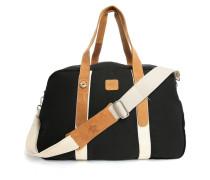 Tasche 48H aus Stoff und Wildleder in Schwarz
