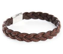 Braunes Armband Square Leather Größe M