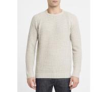 Pullover mit Rundhalsausschnitt aus Wollgemisch 6435 in Naturfarbe