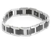 Schwarz-graues Armband Titanium Größe M