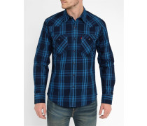 Blue Checked Raw Shirt