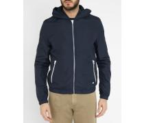 Regenfeste Jacke mit Kapuze und Strickbund-Kragen