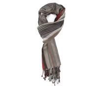 Blauer Schal Multi Stripes aus Baumwoll-Seide