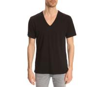 T-Shirt schwarz V-Neck (2er Pack)