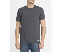 Graues T-Shirt mit Rundhalsausschnitt und Brusttasche