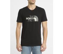 Schwarzes T-Shirt mit Rundhalsausschnitt und Logo S/S Easy Tee