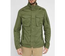 Khakifarbene Jacke mit aufgesetzten Taschen in Military-Stil Rovic Overshirt