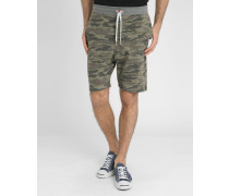 Molton-Shorts Back Number in Tarnmuster Loose
