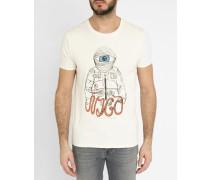 T-Shirt mit Rundhalsausschnitt Off White Astronaut