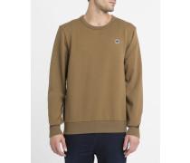Sweatshirt mit Rundhalsausschnitt SR W Logo RAW in Camel