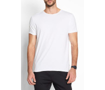 1003 Round Neck Tee With Rolled Edges