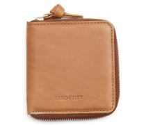 Camelfarbene Brieftasche Aina Zipper