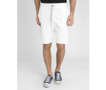 Weiße Molton-Shorts Loose