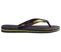 Black Brazil Logo Flip-Flops