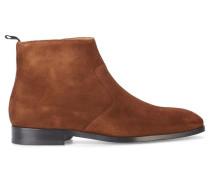 Tabakbraune Chelsea Boots Mulder aus Veloursleder