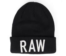 Mütze Zallik mit Logo Raw in Schwarz