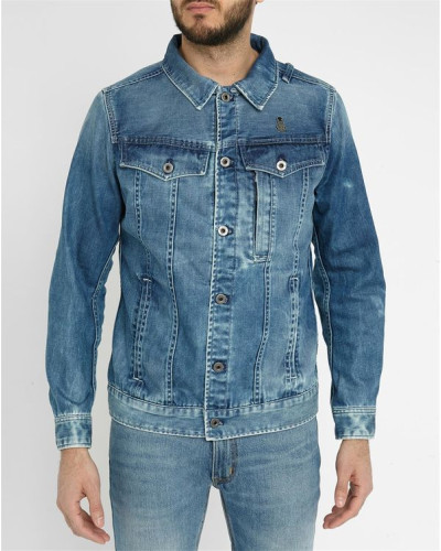 g star raw herren blaue slim jacke aus denim occotis. Black Bedroom Furniture Sets. Home Design Ideas