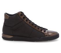 Sneaker Fusion Mid aus Glattleder und genarbtem Leder in Schwarz