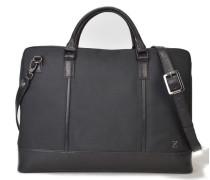 Manhattan Leather Briefcase - Black