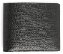 Portemonnaie mit 2 Taschen und 8 Fächern aus schwarzm Leder Aymeric