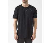 T-Shirt Brusttasche Badland Schwarz