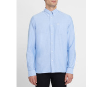 Himmelblaues Oxford-Hemd