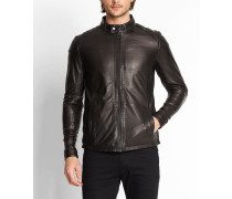 7303 Sheep Leather Jacket With QuiltDetail