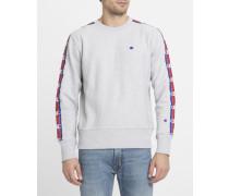 Graumeliertes Sweatshirt mit Stripes-Logo