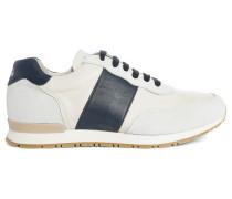 Sneaker Edition 77 in Ecru, blau gestreift