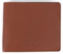 Braunes Leder-Portemonnaie Bill