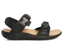 Schwarze Terra Float Universal Leather Sandalen