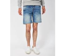 Loom Denim Shorts Blue